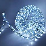 XUNATA - Tira de luces LED (220 V-240 V, 36 ledes/m, IP65, resistente al agua, para interiores, exteriores, jardín, fiestas, Navidad, decoración), Blanco, 4 m