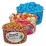 Haribo maoam, Juego de 3, cola lanzador Blue, fruta lanzador, dragees, kaubonbon, 3600g latas