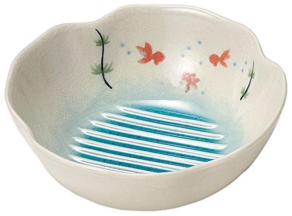 シェル派生する材料美濃焼 水切り鉢 金魚 K60900
