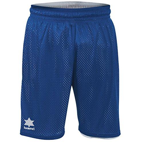 Luanvi Triple Bermuda Reversible de Basket de Baloncesto, Unisex Adulto, Azul y Blanco, 4XL