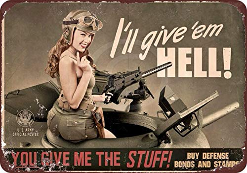 Vintage Women US Army Reproduction Metal Tin Sign TIN Sign 7.8X11.8 INCH