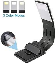 EasyULT Lampada da Lettura USB Ricaricabile, Luce Lettura Notturna, 3 Luminosità Modalità Regolabile, Flessibile a 360 °, Lampada da Libro per Libri, Viaggio etc.[Classe di efficienza energetica A]