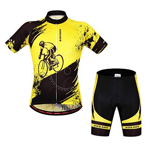AKAUFENG Radanzug Jungen Fahrrad Muster Design Fahrradanzug Männer Wasserabweisend Mountainbike Outdoor Sport Shorts