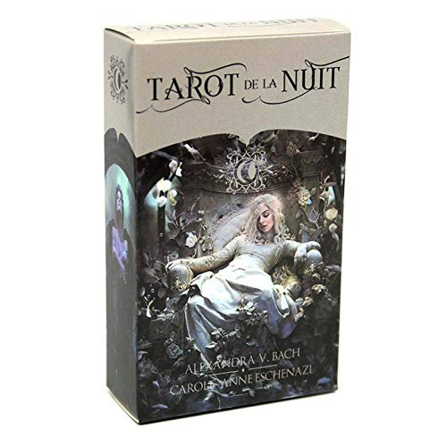 GWQDJ 78 Tarjetas Deck Tarot De La Nuit Full Family Party Board Juego Oracle Tarjetas para Principiantes