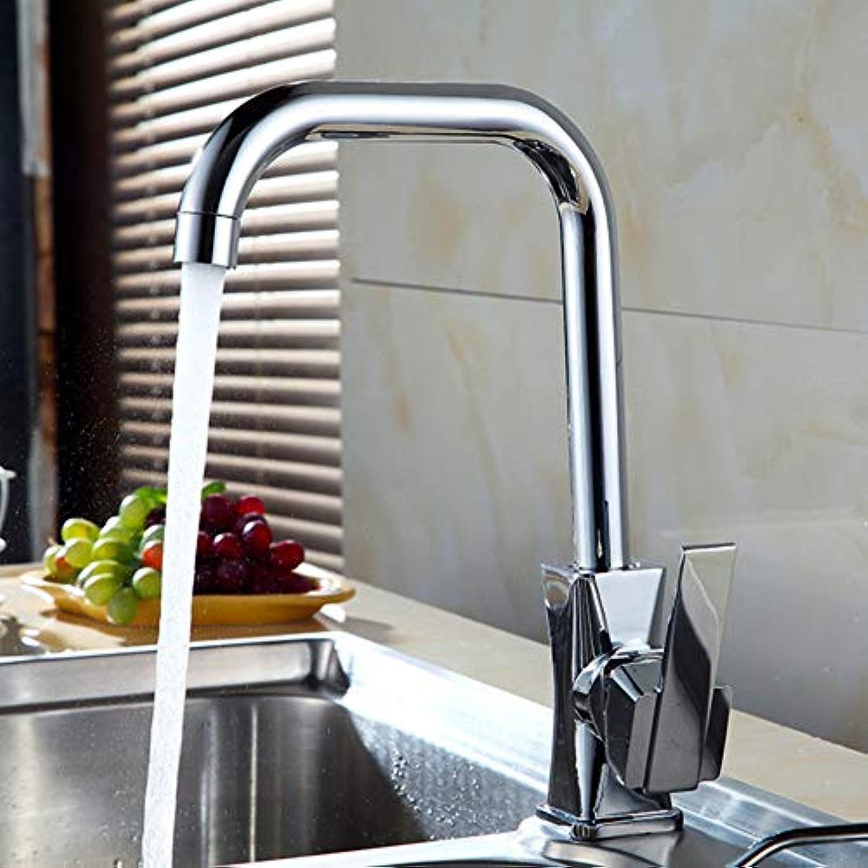 Küchenspüle, Becken, Wasserhahn, heier und kalter Wassermischer, 360 Grad drehender Wasserhahn