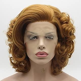 Lace Front Synthetic Wig Short Honey Blonde Wig Heat Friendly Heavy Density Stylish Wig