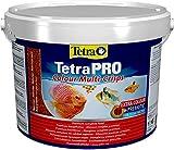 Tetra Pro Colour Multi-Crisps 10 L - Alimento completo con un valor nutritivo óptimo, concentrado de color adicional realza la coloración de los peces