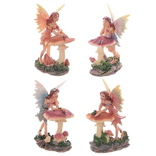 Figurine fée avec décoration champignon