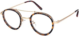 Aiweijia Round frame Eyeglasses metal Full frame fashion glasses Unisex