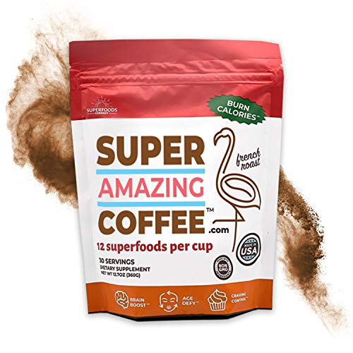Superfoods Company Super Amazing Coffee, Instant Coffee, 30 Servings, Supports Metabolism, Brain Function, Appetite Suppression and More