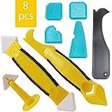 Silikonentferner, Silikon Fugenwerkzeug Set mit Dichtung Werkzeug/Dichtmittelelentferner/Caulk...