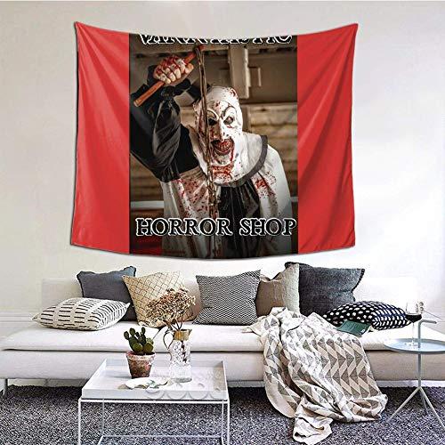 Hdadwy Vanntastic Horror Shop Tapiz Decorativo de Pared para Dormitorio, Sala de Estar, Dormitorio, decoración para Fiestas, 60 x 51 Pulgadas