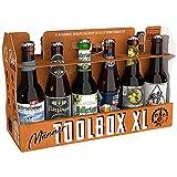Kalea Toolbox XXL, 12 Biere von Privatbrauereien aus Deutschland, lustiges Geschenk mit Bier für Männer und Handwerker