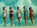 Buyartforless Bathing Beauties 24x36 GICLEE 12 Color Art Print Poster Vintage Bathing Suits