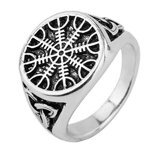 Skyrim Herren Ring Norse Wikinger Aegishjalmur Helm of Awe irischer Knoten