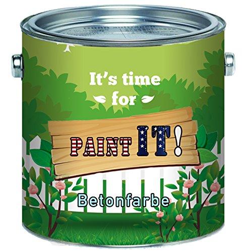 Paint IT! Betonfarbe hochwertige Fassadenfarbe Bodenfarbe für mineralische Untergründe wieBeton, Zement, Putz oder Stein (1 L, Anderer RAL-Farbton (Bitte RAL Wert senden))