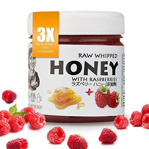 【Amazon.co.jp限定】 非加熱 無殺菌 ハニー セット品 ラズベリー生はちみつ 3個 Set of 3 Raspberries : 3x Raw Honey with Raspberry 200g