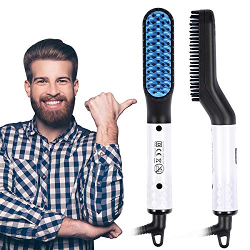 Beard Straightener- USA Designed 2020 Beard Straightening Comb for Men- Electric Ionic faster Quick...