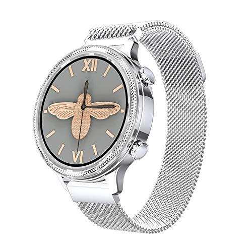 MMFFYZ Reloj Inteligente De Círculo Completo, Toque Completo, Bluetooth 5.0, Reloj Inteligente, Frecuencia Cardíaca Dinámica, Recordatorio Fisiológico Femenino, Pulsera Inteligente(Color:C)