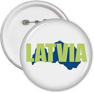 Lot de 5 badges carte de la Lettonie Europe Art Déco Cadeau Mode Badge Badge Emblème Accessoire Décoration