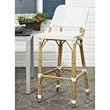 Safavieh Home Collection Deltana Beige Indoor/ Outdoor Barstool
