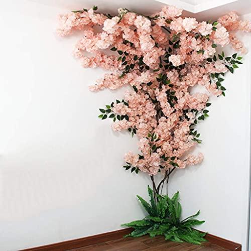 XJZKA Árbol de Flor de Cerezo Artificial Guirnalda de Seda Hogar Decoración de Fiesta de Boda Árbol de simulación Decoración de Pared Interior al Aire Libre, B