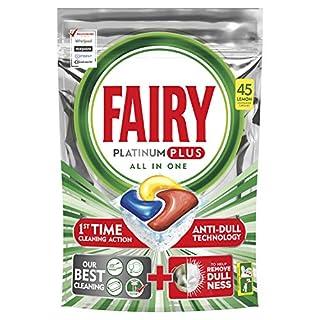 Fairy Platinum Plus Dishwasher Tablets Lemon, 45 Tablets (B07TKKHG72)   Amazon price tracker / tracking, Amazon price history charts, Amazon price watches, Amazon price drop alerts