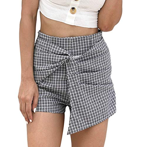 Dames Zomer Hoge Losse Taille Plaid Losse Jonge Mode Casual Modieuze Shorts Dames Korte Zomer Korte Broek Casual Broeken Brede Been Korte Broek