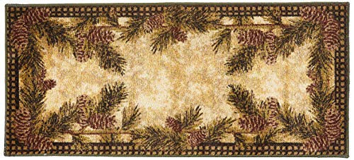 pine cone kitchen rugs - 1