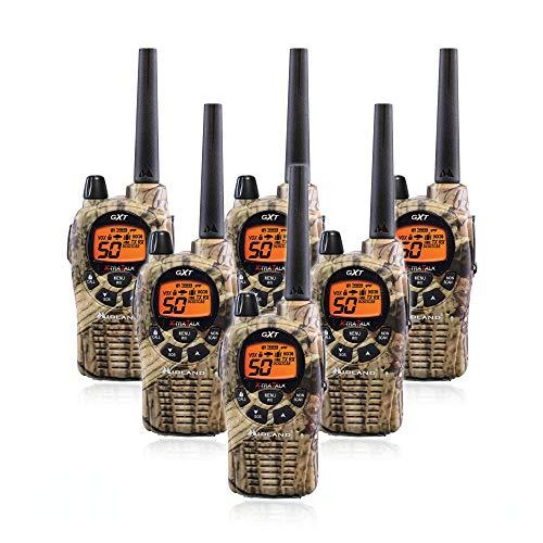 Midland GXT1050VP4 Long Range Walkie Talkie - 50 Channel GMRS Two Way Radio (Mossy Oak Camo, 6 Radios)