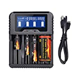 TrustFire TR-020 Household Battery Charger for Li-ion IMR 18650 18350 26650 32650 Ni-MH Ni-Cd AA AAA AAAA RCR123A RCR123 and All Kinds of Cylindrical Rechargeable Battery (4 Slots)