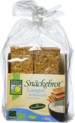 Bohlsener Mühle Brezelsalz & Laugen Snäckebrot, 4er Pack (4x 200 g) - Bio