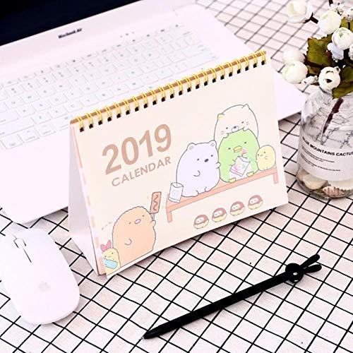 Grea 2019 Cute Cartoon Whale Stehpult Kalender Desktop to Do List Daily Planner Buchbriefpapier, 3