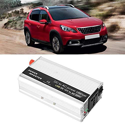 AQD technaxx 3000W DC 12V / 24V zu AC 100V-120V / 220V-240V Wechselrichter Single USB Charger Power Converter (Silber) BAQD