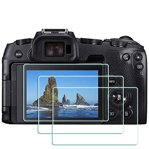 BTER EOS RP Protector de pantalla de vidrio templado para cámara digital Canon EOS RP, EOSRP Protector de pantalla de vidrio templado ultra transparente antiarañazos antihuellas antipolvo [3 unidades]