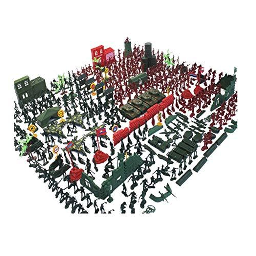 FLYTYSD 5Cm Soldados Militares Plástico Soldados Juguete Modelo Hombres Ejército Figuras Accesorios Equipo Ejército Juguetes para Los Muchachos Niños De Los Niños, 203Pcs