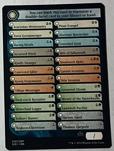 Magic The Gathering - Shadows Over Innistrad Checklist Card (CH1) (CH1/297) - Shadows Over Innistrad