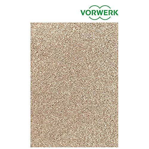 Vorwerk vlakpolig tapijt effen in zand woonkamer 133/190 cm beige