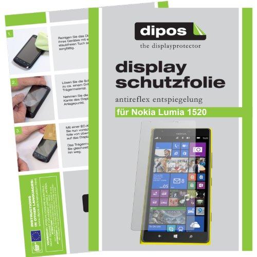 dipos I 2X Schutzfolie matt kompatibel mit Nokia Lumia 1520 Folie Bildschirmschutzfolie