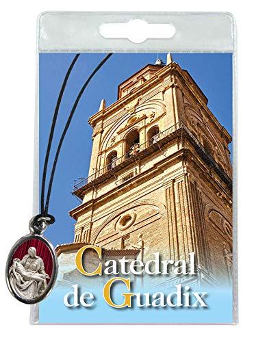 Ferrari & Arrighetti Medalla de la Catedral de Guadix con cordón y oración en español