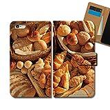 Disney Mobile on docomo DM-02H ケース 手帳型 食べ物 手帳ケース スマホケース カバー パン クロワッサン 小麦 食パン E0332020087502