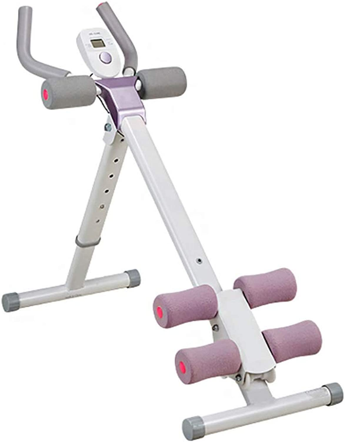 Foldable Abdominal Trainer Abdominal Back and Hip Muscle Trainer  Led Display  Adjustable Height