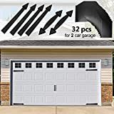 Eapele Magnetic Garage Door Decoration Kit Include Faux Windows Hinges and Handles