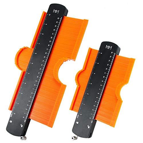 Nullnet Profile Gauge Set Contour Duplicator Contour Copy Tool Ruler Measurement for Woodworking Blanket Cutting Floor Title