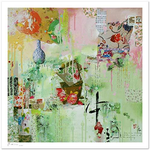 Reproducción de arte - Jardin chinois - sobre papel de acuarela 300g/m² con textura, de alta calidad: Amazon.es: Handmade