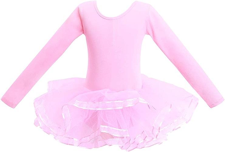 Zzzzy Justaucorps Danse Fille Manche longu de Danse Ballet Gymnastique Tutu Robe de Danse Robe de Ballet Robe sans Manches Body de Flexible, Confortable et Doux