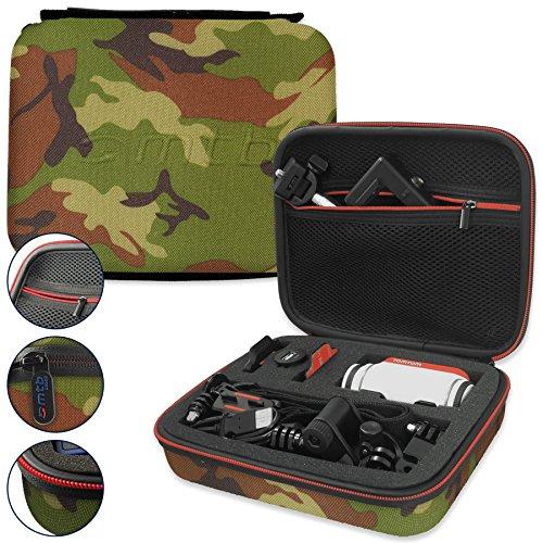 mtb more energy® Schutztasche XL für Garmin Virb Elite, X, XE/Contour Roam 3 / Ghost-S/Tomtom Bandit UVM. - Tarnfarben - Koffer Case Stecksystem Modular