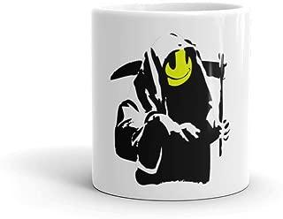 Banksy Happy Smiling Grim Reaper Death Mug