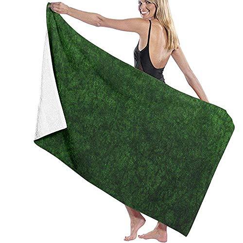 Black-Sky Smaragdgrünes Gras Samt Badetuch Wickel Mikrofaser Weiche Badetücher Strandtuch für Männer/Frauen