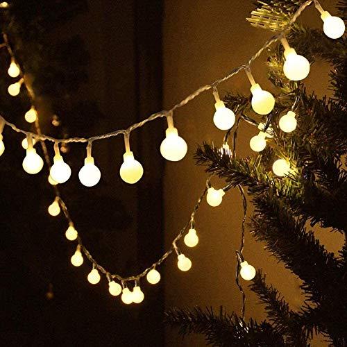 Luces de hadas a prueba de agua, 15 m / 49ft 120 LED Luces de cadena, enchufe con 8 modos Luces de Navidad al aire libre/interior para patio, gazebo, dormitorio, decoraciones de fiesta